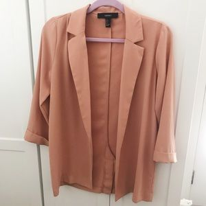 Coral Pink Lightweighted Loose Blazer size s